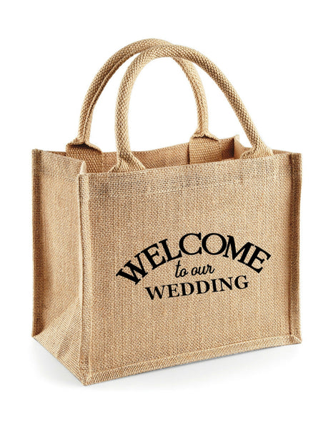 Wedding Welcome Burlap Jute Tote Bags