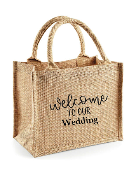 Wedding Welcome Jute Tote Bags