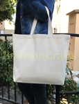 Wholesale Reusable Shoulder Canvas Twill Tote Bags, Bull Denim Totes in Bulk