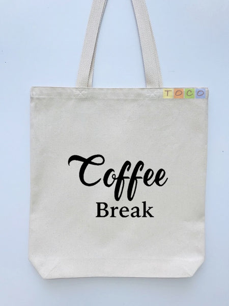 Coffee Break Design Canvas Tote Bags