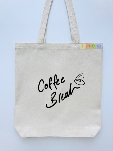 Coffee Break Canvas Tote Bags