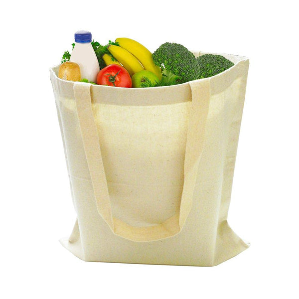 "Shopping Cotton Convenient Tote Bags, Flat, TBS01 (15"" x 16"")"