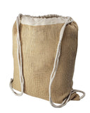 Natural Burlap Jute Drawstring Backpacks