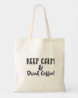 COFFEE LOVER CANVAS  COTTON TOTE BAG