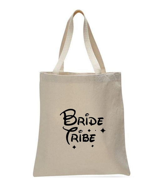 Personalized Wedding Canvas Gift Tote Bags, Bride Tribe, WB30