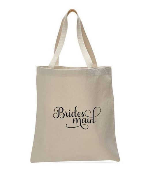 Personalized Wedding Canvas Gift Tote Bags, Bridesmaid, WB32
