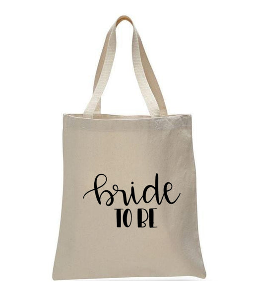 Personalized Wedding Canvas Gift Tote Bags, Bride To Be