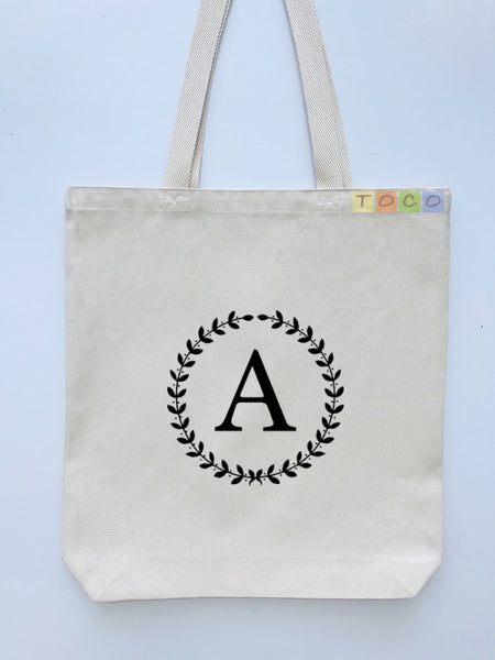 Personalized Monogrammed Canvas Tote Bags, MB01