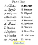 Mytotebags Font Lists