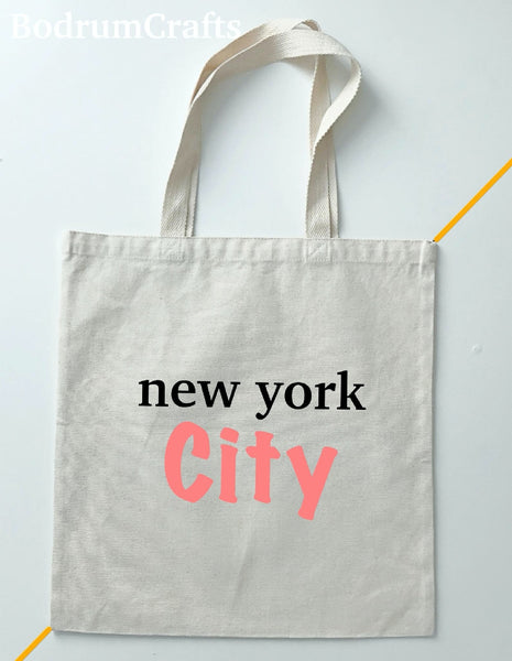 New York City Canvas Tote Bags Art, Custom Gifts Totes for Women, Cities Design Print Bag Gifts