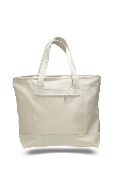 Canvas Zipper Tote Bags TB22