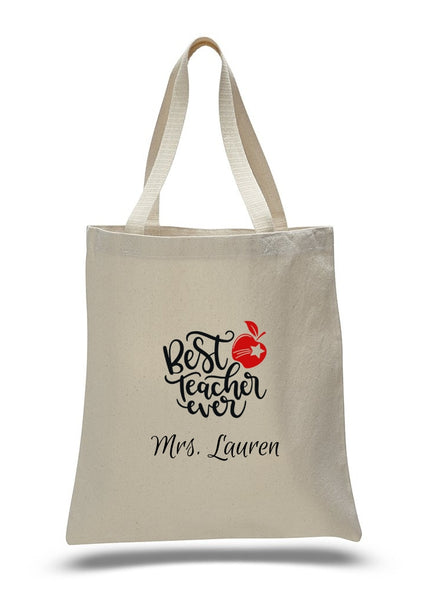 Personalized Teacher Tote Bags, Graduation Teachers Gifts, Canvas Totes TB114