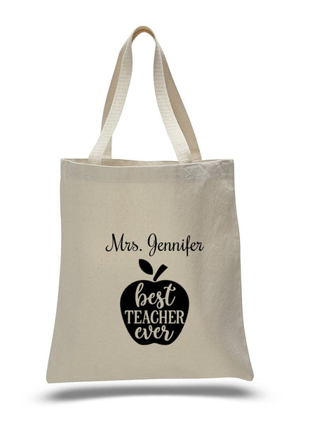 Personalized Teacher Tote Bags, Graduation Teachers Gifts, Canvas Totes TB116