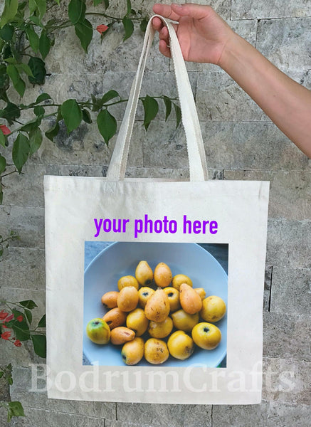 Bulk Custom Screen Printed Heavy Canvas Tote Bags Personalized Wholesale by BodrumCrafts