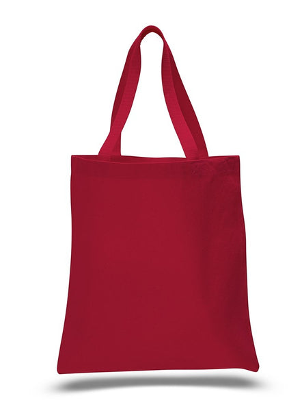 wholesale Red Color Heavy Canvas Tote Bags with Bottom Gusset