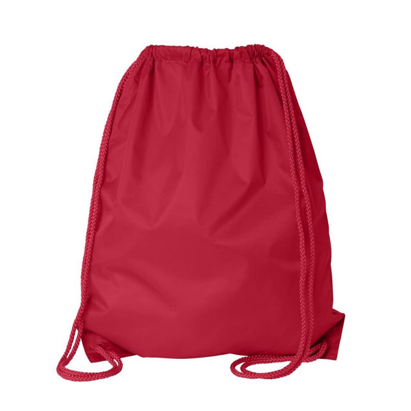 Economy Polyester Sports Drawstring Backpack, Large Size