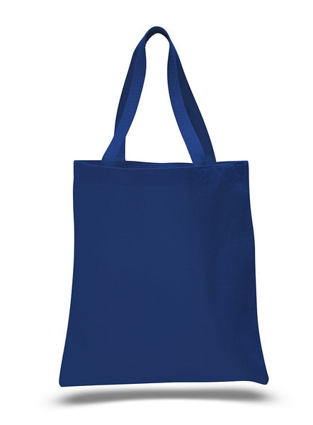 Royal Color Heavy Canvas Tote Bags with Bottom Gusset