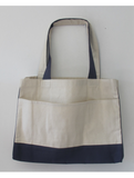 Large Size Heavy Canvas Shopping Grocery Tote Bags, Large Front Pocket