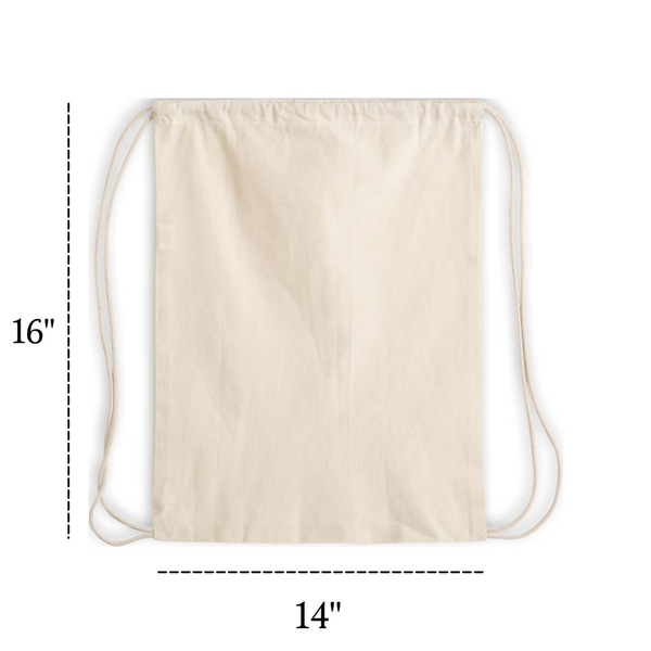 Small Size Cotton Drawstring Backpack