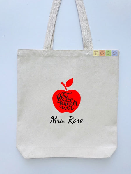 Teacher Canvas Tote Bags TB01