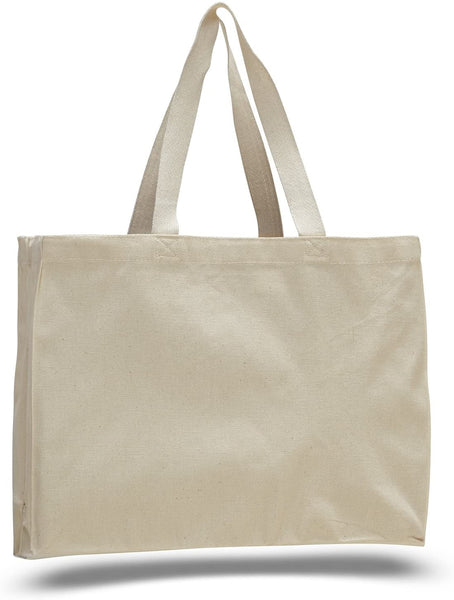 Bulk Heavy Canvas Shopping Tote Bags, Reusable Grocery Shopper Totes Wholesale natural