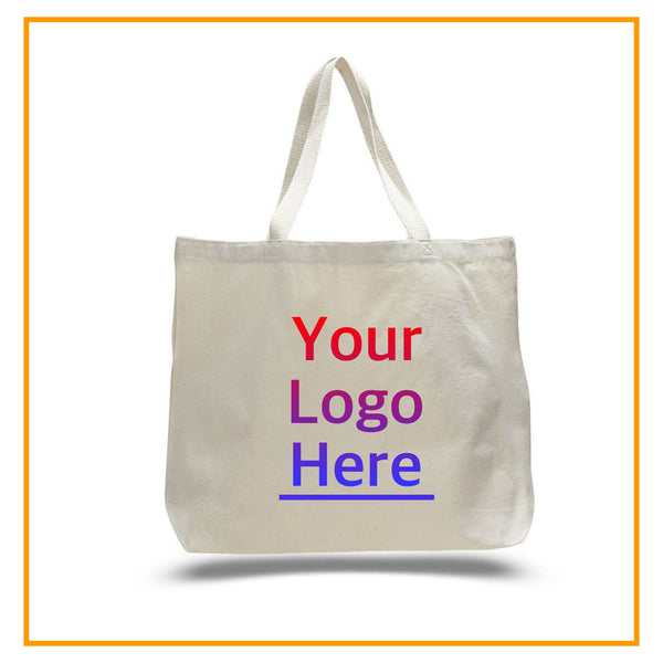Custom Tote Bags with Logo, Personalized Canvas Totes with Name, Large Size, Your Photo Printing, Promotional Tote, Bag Bulk bodrumcrafts