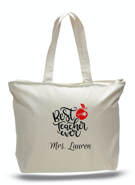Personalized Teacher Tote Bags, Graduation Teachers Gifts, Canvas Totes TE103