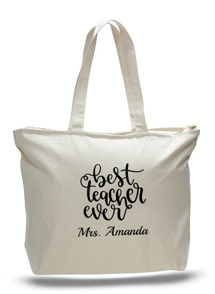 Personalized Teacher Tote Bags, Graduation Teachers Gifts, Canvas Totes TG101Personalized Teacher Tote Bags, Graduation Teachers Gifts, Canvas Totes TE102