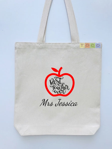 Teacher Canvas Cotton Gift Tote Bags