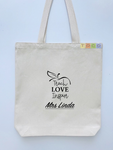Teacher Canvas Gift Tote Bags