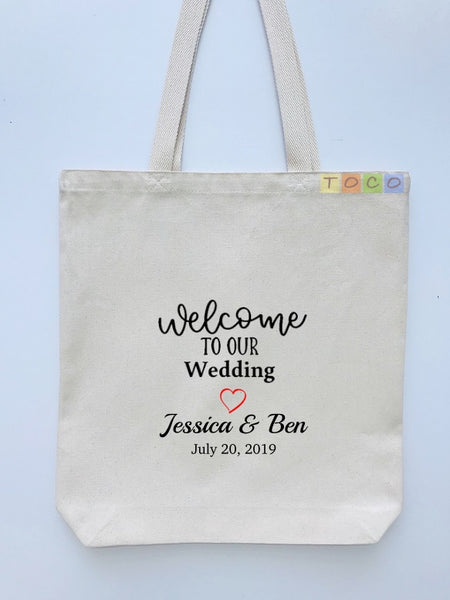 Wedding Welcome Tote Bags, Hotel Destination Guests WB10