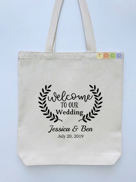 Wedding Welcome Tote Bags, Hotel Destination Guests WB03