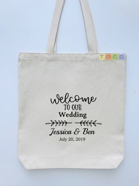 Wedding Welcome Tote Bags, Hotel Destination Guests WB04