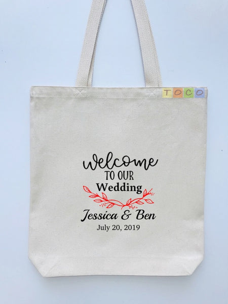 Wedding Welcome Tote Bags, Hotel Destination Guests WB06