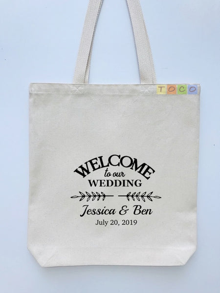Wedding Welcome Tote Bags, Hotel Destination Guests WB07