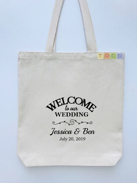 Wedding Welcome Tote Bags, Hotel Destination Guests WB08