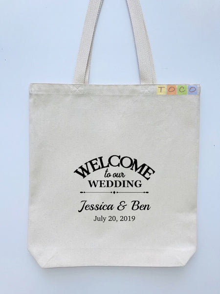Wedding Welcome Tote Bags, Hotel Destination Guests WB09