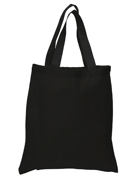 Wholesale Black Color Canvas Cotton Tote Bags