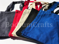 Wholesale Heavy Canvas Tote Bags Small Size, Black, Red, Royal, Navy Blue Color, Cheap Bulk Totes