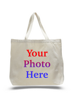 Custom Digital Printed Heavy Canvas Tote Bags, Large Size