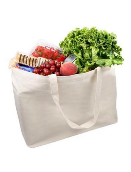 Heavy Duty Canvas Shopping Grocery Tote Bags, Large Size Totes