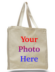 Custom Digital Printed Heavy Canvas Tote Bags, Large Size with Full Gusset Wholesale Bulk