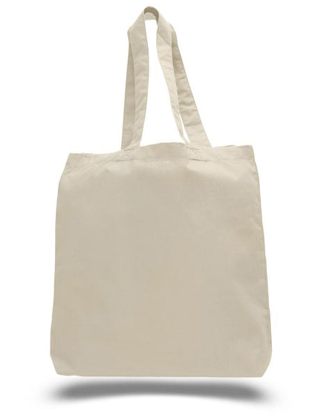 "Wholesale Lightweight Cotton Tote Bags with Gusset (15"" x 16"" x 3"")"