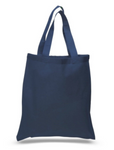 Wholesale Navy Blue Color Canvas Cotton Tote Bags. Our Cheap Plain Totes in Bulk are Great for Screen Printing, Crafts, Promotional Bags with Logo.