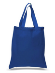 "12 Pack Wholesale Royal Blue Color, 100% Cotton Tote Bags in Bulk (15"" x 16"")"