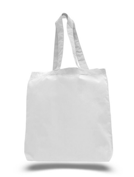 Wholesale White Color Canvas Cotton Tote Bags. Our Cheap Plain Totes in Bulk are Great for Screen Printing, Crafts, Promotional Bags with Logo.