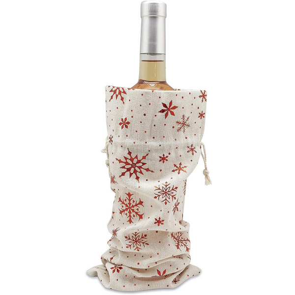Cotton Canvas Muslin Wine Bags, Christmas Gifts, 12 Pack