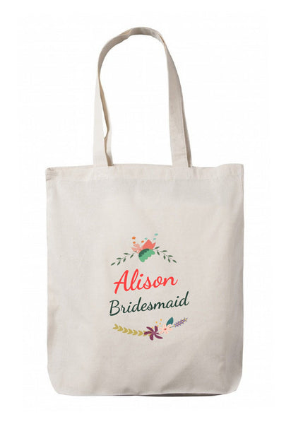 Personalized Wedding Canvas Gift Bags, Party Favors Gifts, WB61