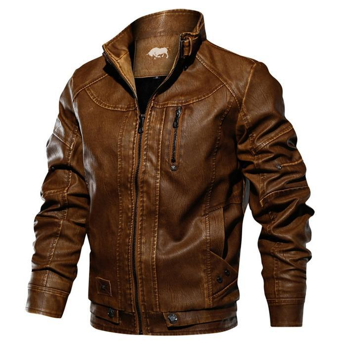 Bosso Wear Leather Motorcycle Jacket