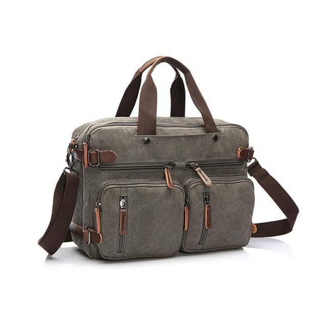Bosso Wear Canvas Leather Briefcase